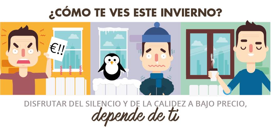 calidez a bajo precio silencio cerramientos exteriores ventanas o balconeras de madera Iscletec renovar sus ventanas campaña invertir cerramientos exteriores bienestar salón de su vivienda empresas de gas y electricidad