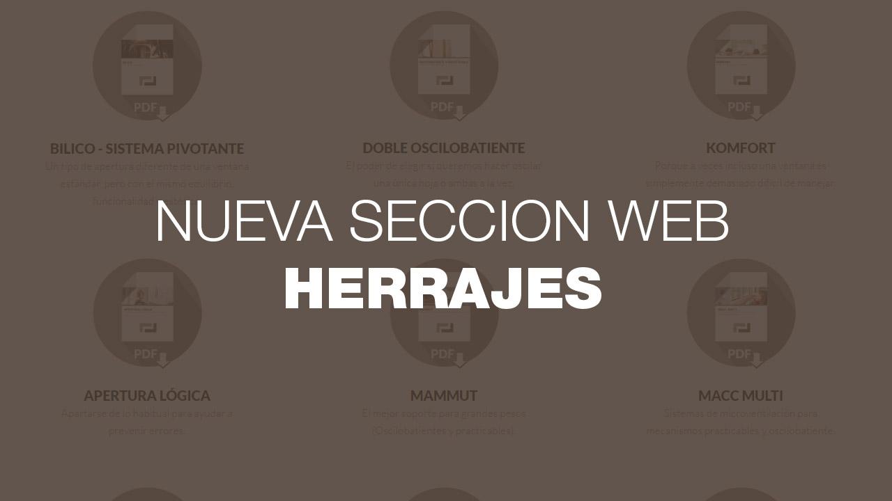 nuevos herrajes web maco iscletec